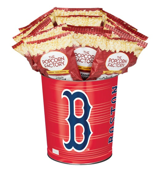 Boston Red Sox 3-Flavor Popcorn Tins