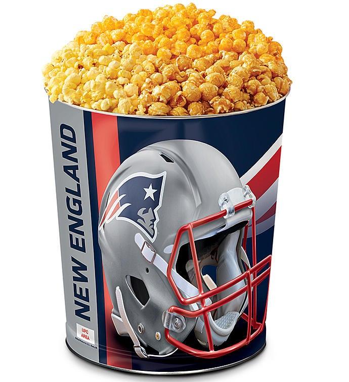 New England Patriots Flavor Popcorn Tins