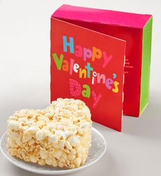 Happy Valentine's Day Popcorn Heart Card