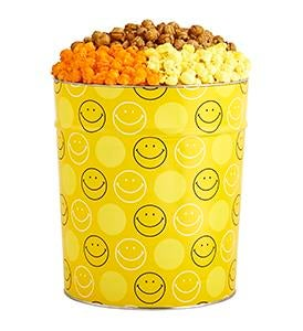 Smiley Dot Popcorn Tins