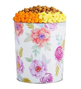 Fancy Floral Popcorn Tins